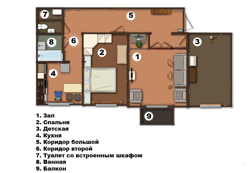 Отчет ремонт квартиры 2 комнаты сталинка перепланировка